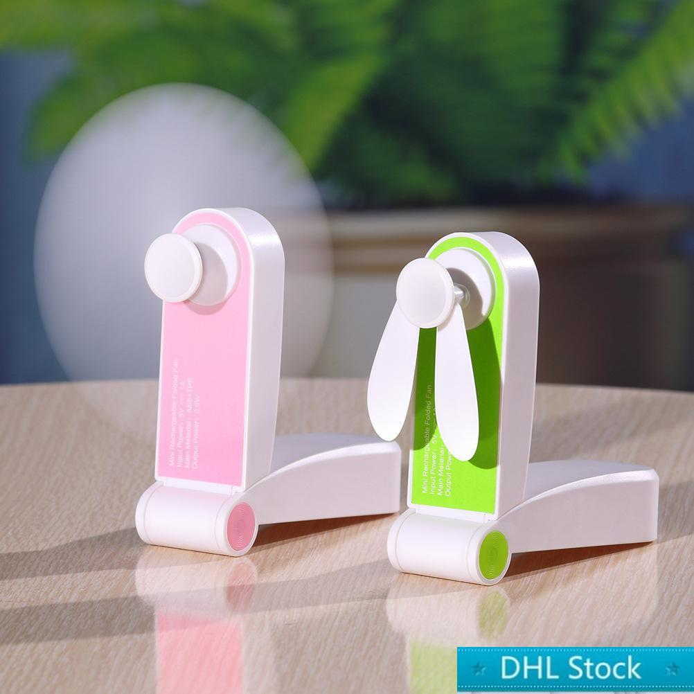 Free Shopping USB Mini Fold Fans Electric Portable Hold Piccoli fan Originalità Piccoli elettrodomestici Elettrodomestici Desktop Fan elettrici