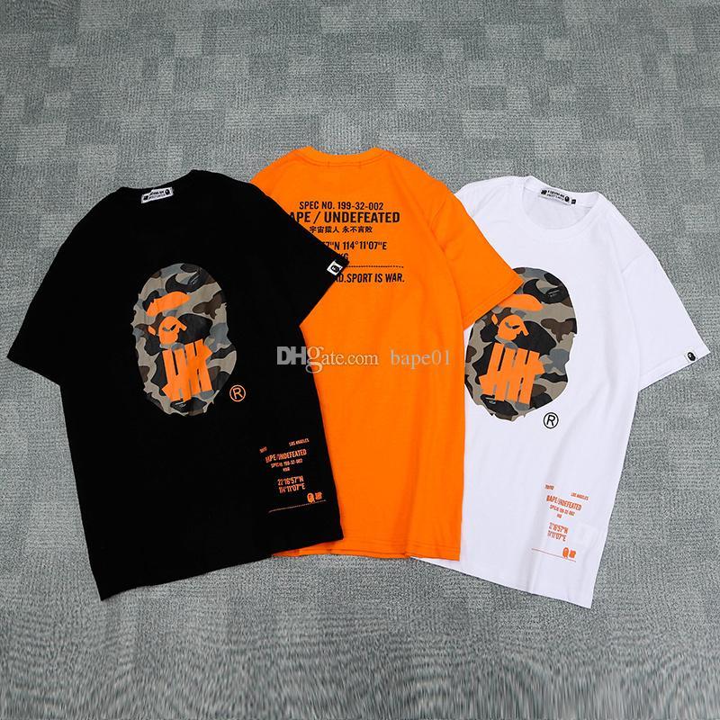 Bape Stilist Tişörtlü Bape Mens Stilist Kısa Kollu Yenilmez Erkekler Kadınlar Hip Hop Tees M-2XL