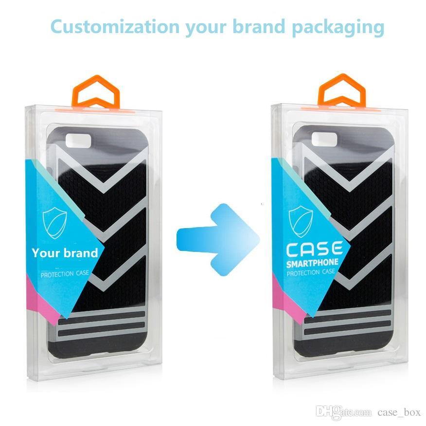 Estuche universal de PVC, caja de teléfono celular, paquete de venta al por menor, caja para iPhone X X, máximo 8, más, Samsung, LG, Huawei, etc., embalaje personalizado