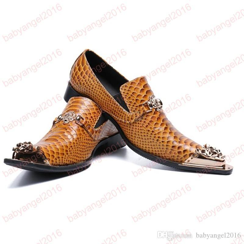 Moda hombre zapatos formales de alta calidad de cuero transpirable personalidad de los hombres de negocios vestido holgazanes Oxford zapatos de boda
