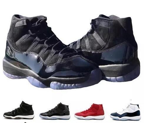 2019 hommes 11s XI chaussures de basket-ball Jam True Blue Platinum Tint Gym Red Bred PRM Barons Concord 45 chaussures de sport robe de bal blanc 11 MidNight