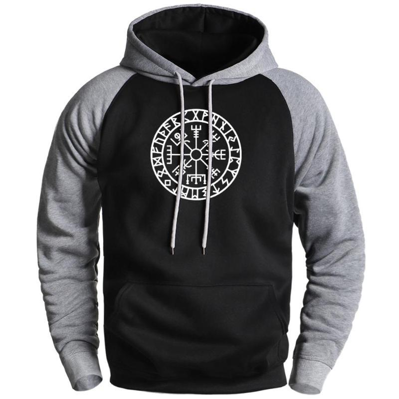 Compass Moda Velo Hoodies Mens Moletons 2020 Masculino Inverno ido para Valhalla Raglan Hoodies Sportswear masculino com capuz
