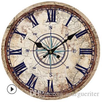 Retro Ahşap Duvar Saati Yaratıcı Vintage Dijital Duvar Saati Sıcak Satış Oturma Odası Yatak Odası Dekoratif Saat 30 cm 8 stilleri