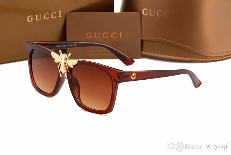 2019 Luxus-Desinger-Platz Sonnenbrillen mit Stempel UV400 Full Frame Sonnenbrillen für Frauen Männer Mode-Accessoires-Qualitäts-196