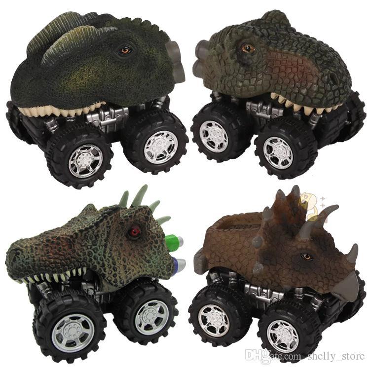 هدية عيد الطفل لعبة 2018 ديناصور نموذج سيارة لعبة صغيرة الخلفي من السيارة هدية شاحنة هواية أطفال مضحك هدية قطرة الشحن