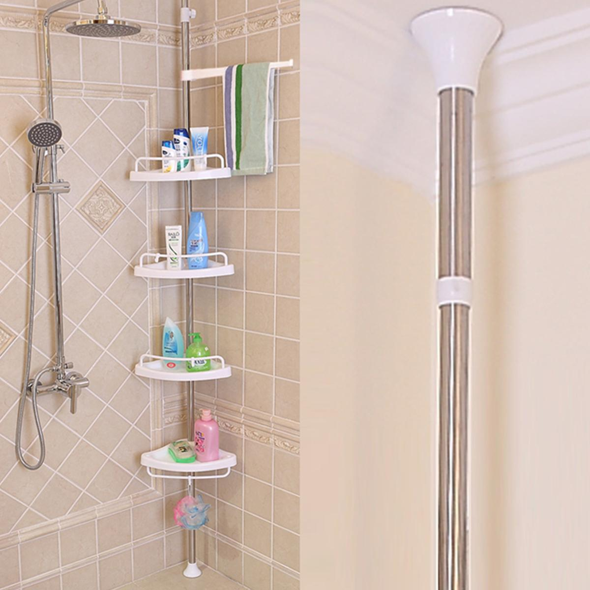 Bathroom Shelf Punch Free 4, Corner Shelves Bathroom Shower