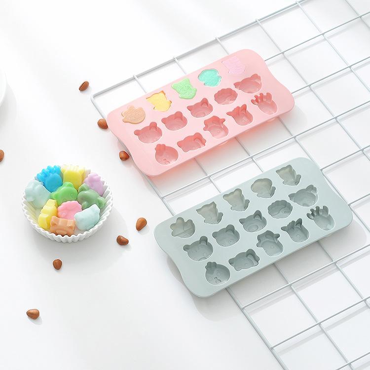 Ponto 15 dos desenhos animados molde meio porco silicone gelo rede silicone Chocolate domésticos DIY ferramenta de panificação