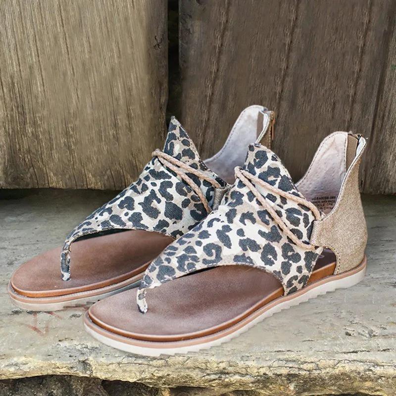 2020 Large Size antiscivolo nuovo appartamento Donna Sandali Donna Sandali modo del leopardo delle nuove donne