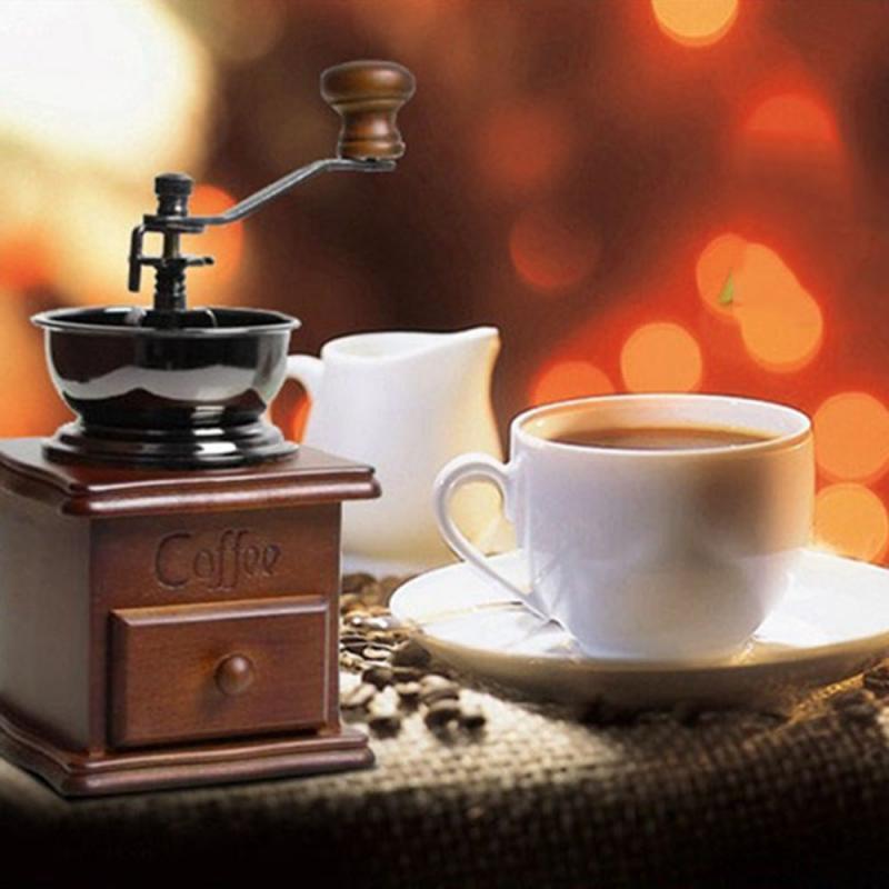 Mano de Plata Acero molino de café Mini inoxidable Manual hecha a mano del grano de café Burr molinos de café de la máquina Accesorios de Cocina
