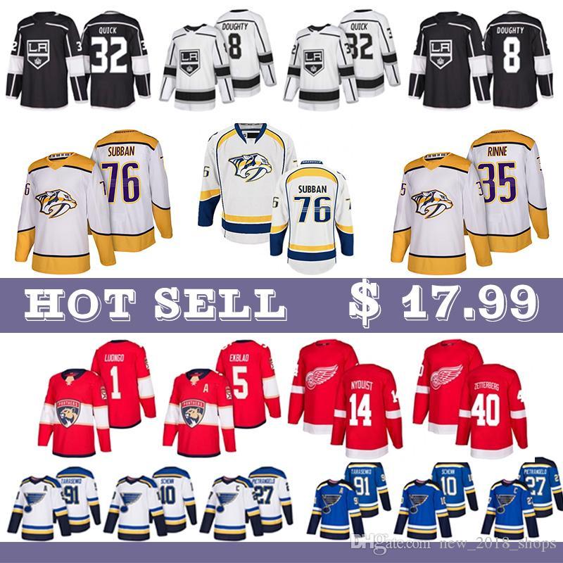 Nashville Predators 35 Pekka Rinne 76 P.K. Subban 92 Jonathan Drouin 27 Alex Galchenyuk 67 Max Pacioretty Montreal Canadiens Eishockey Trikots