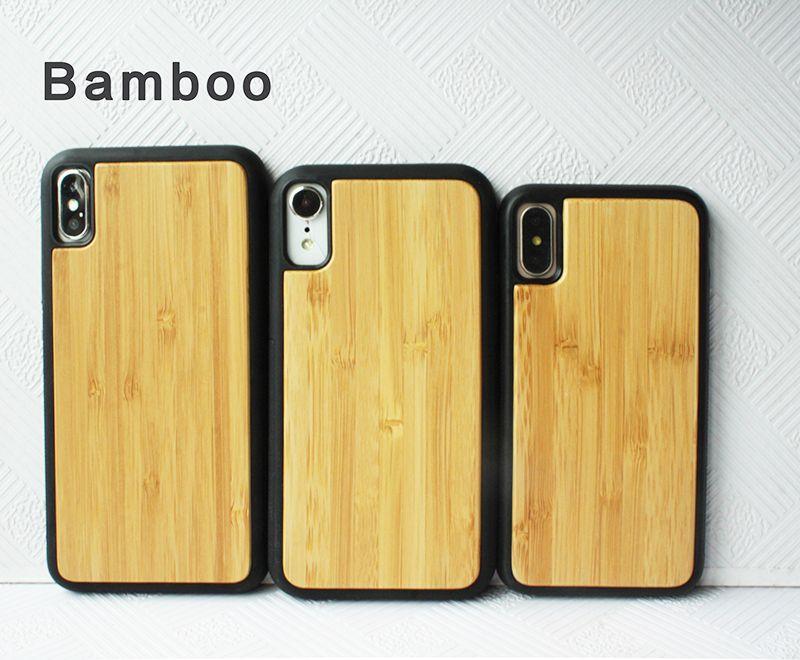 Caso Di Lusso In Legno Di Bambù Vero TPU Apple Iphone X XS XR XS MAX Cover In Legno Di Design Personalizzato Iphone 6 7 8 6S Plus Da Wood_case, 2,09 € ...