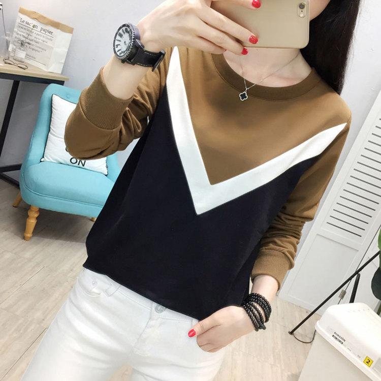Plus Size Tshirt Women Fashion Long Sleeve T-shirt Women Tops Casual Camiseta femme Patchwork Tshirts Women Poleras Mujer 2019 (5)