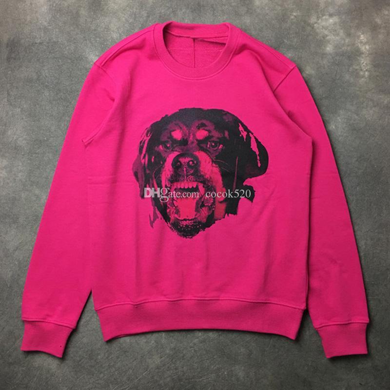 남성 스타일 후드 남성 여성 개 패턴 인쇄 된 오버 사이즈 스웨터 후드 패션 남성 스타일의 T 셔츠 크기 S-XL