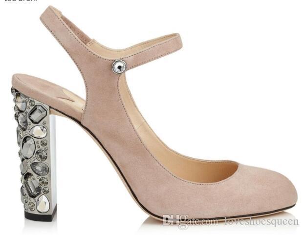2019 Nuevas mujeres bombas de tacón de diamantes con brillo tacones altos bombas de boda zapatos de fiesta color mezclado stud bombas de punta estrecha zapatos