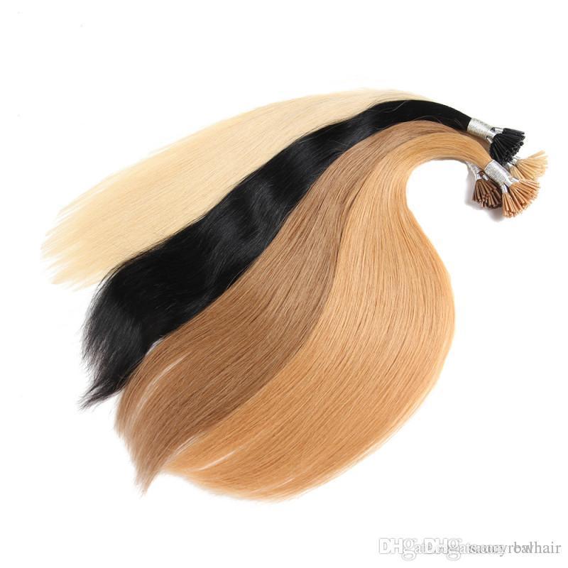 Pure Color 1 # 99j красный 613 # Натуральный цвет для варианта 1 г ул. 200 г Лот Remy Бразильские человеческие волосы I-Tip Полный набор для наращивания волос