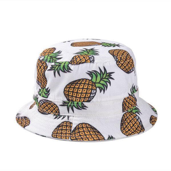 Kadınlar Pamuk Kova Şapka Ananas Boonie Avcılık Yaz Balıkçılık Açık Kapaklar Meyve Desen Yüksek Kalite Bütçe Fiyat