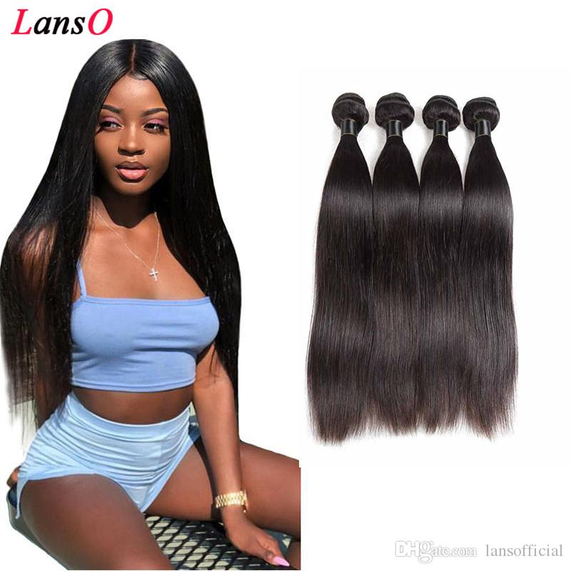 Vierge Brésilien Indien Cheveux raides TRAMES Remy cheveux humains non transformés Tissages Double Trames 50G / pc Livraison gratuite Droit