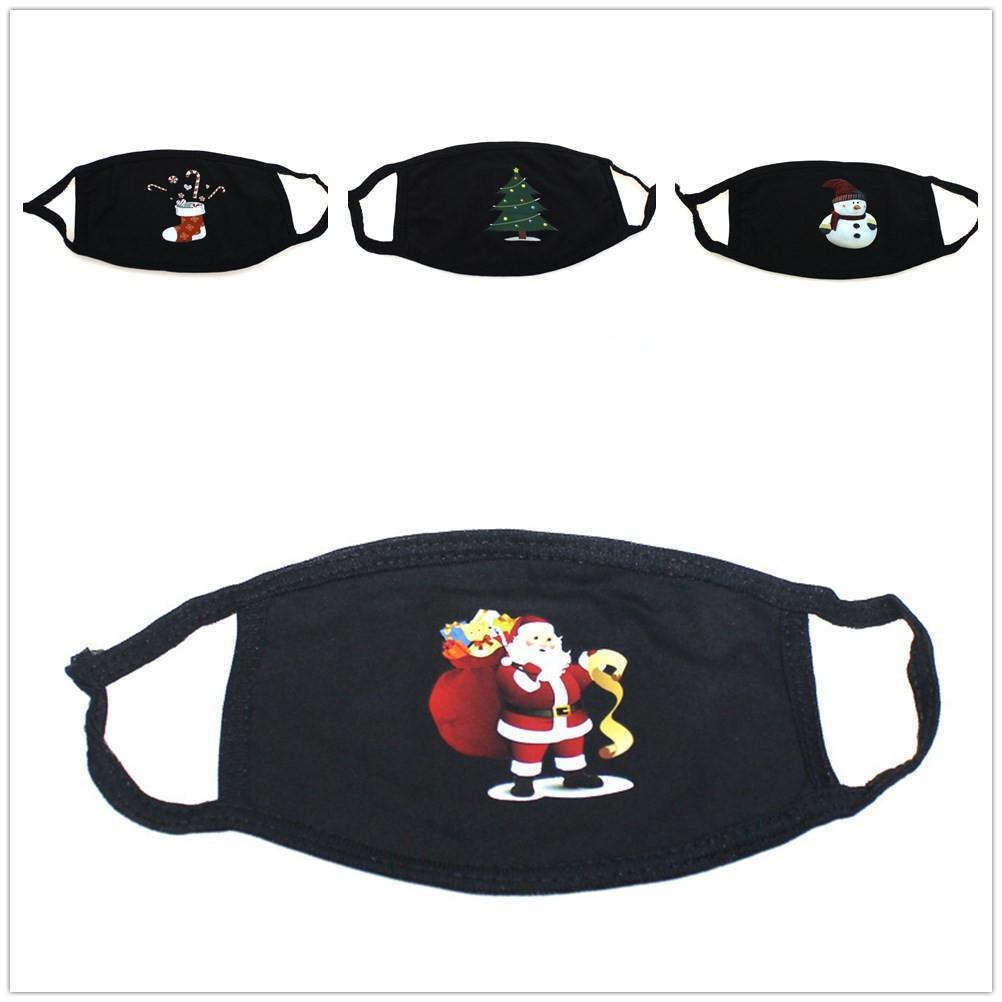 6style Noel yüz maskesi Anti Toz Soğuk Geçirmez Unisex ailesi Katlanabilir Siyah Havalandırma DHL ücretsiz Nefes Noel hediyesi dekorasyon maske
