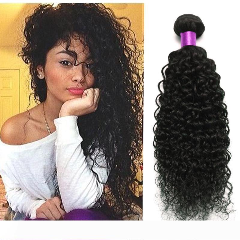 Offerte brasiliano riccio crespo dei capelli Virgin 3 Bundle 100% dei capelli umani del tessuto 8A Lordo Virgin capelli vergini brasiliani tessuto ondulato in linea