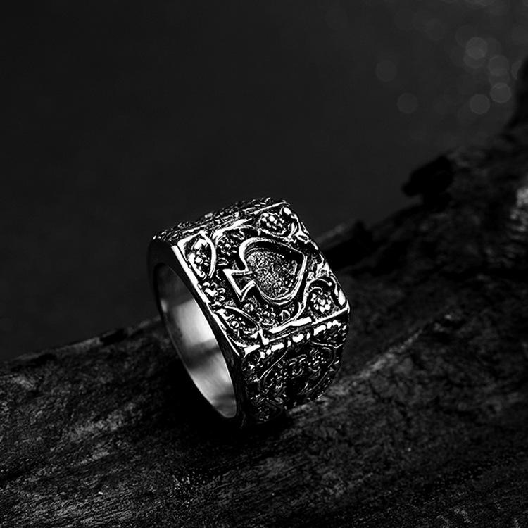 2020 новые творческие лопаты K палец из нержавеющей стали пара кольцо старинные кольца ювелирные изделия оптом размер США