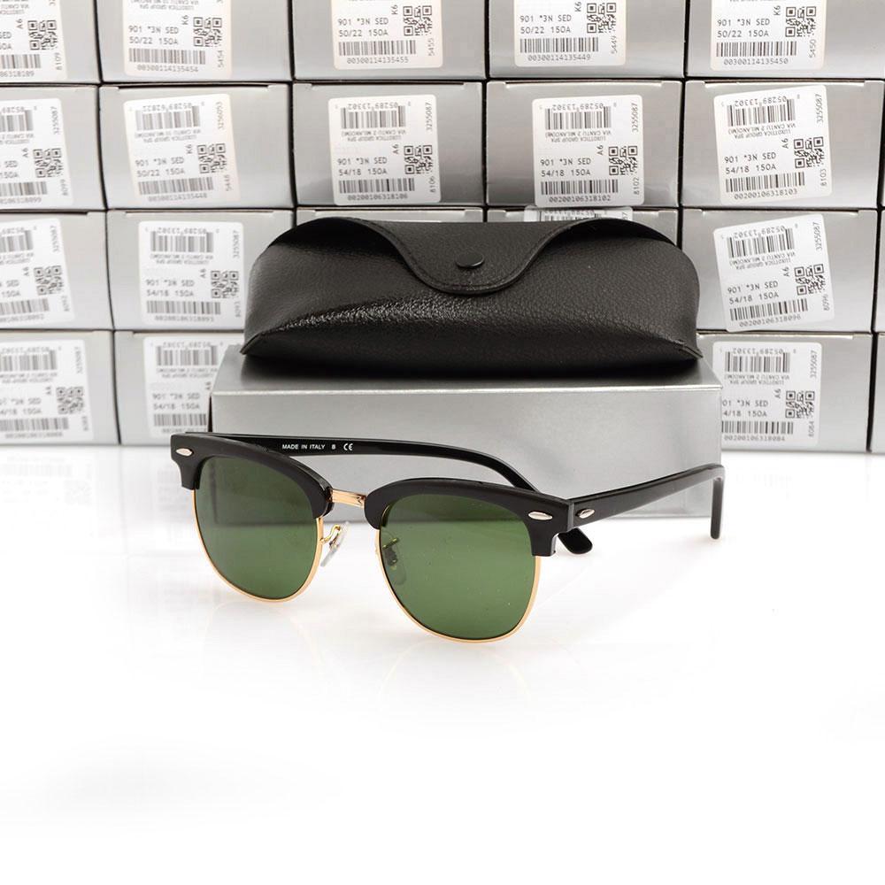 Quanlity alta Sun óculos de Plank óculos preto Óculos De Sol Da Marca Designer óculos de sol de Metal dobradiça óculos Novos homens das mulheres óculos de sol com Caixa