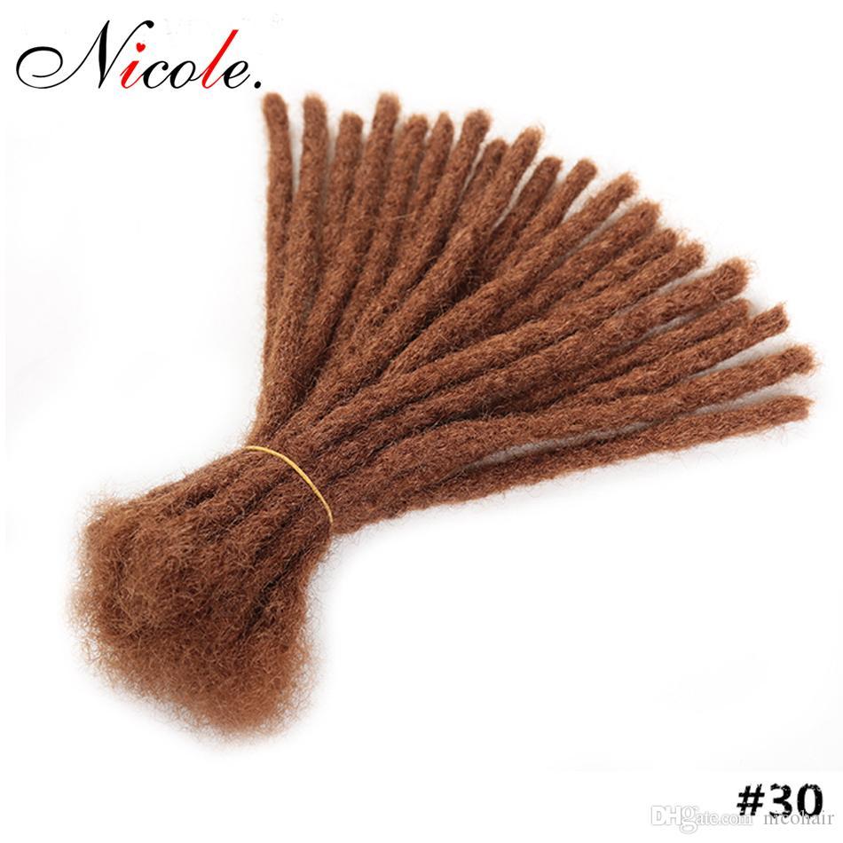 15-30cm Короткого Dreadlock Мужчина Handmade Синтетические крючок Плетение волосы Hip Hop Pure Color вязание крючок волосы для мужчин Black Бесплатной доставки