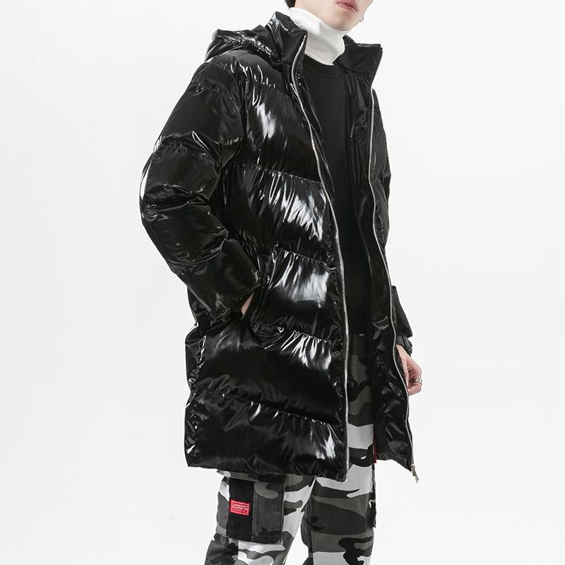 Erkekler Kış Uzun Palto Aşağı Sıcak Ceketler Dış Giyim Rahat Kış Uzun Parkas Yeni Moda Stil Erkekler Aşağı Kapüşonlu Ceketler