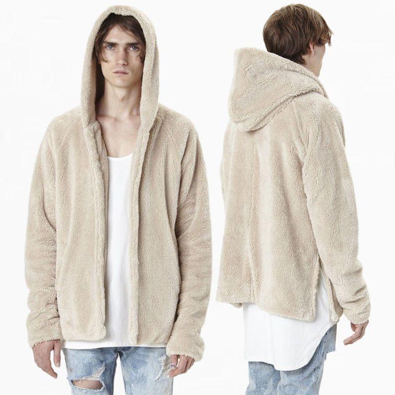 2018 nuovi uomini di moda solido inverno caldo con cappuccio giacca con cappuccio cappotti pullover maglione cardigan tuta sportiva Tops