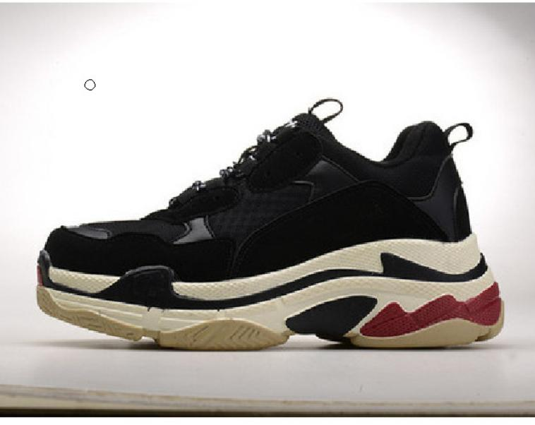 Triple S Plate-forme Chaussures Homme Femmes Chaussures Paris 17FW Triple Noir Crème Jaune Rouge sport Chaussures partie Chaussures 36-45
