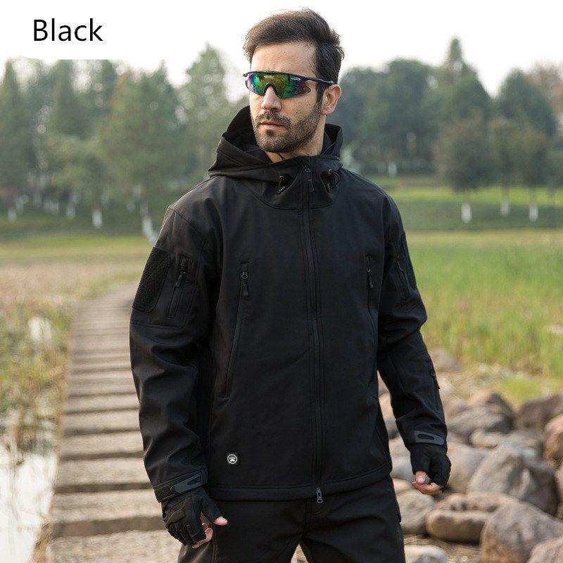 New Tacvasen camuflagem do exército Homens Jacket Brasão Tático Militar jaqueta de inverno impermeável Soft Shell Jackets Windbreaker caça Hot Roupa