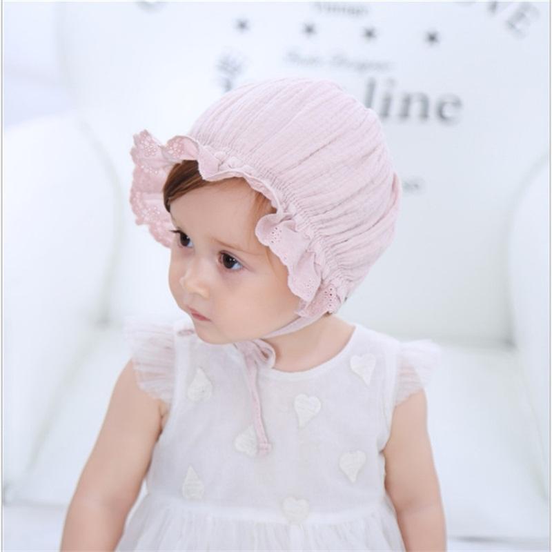 6-12 meses recién nacido del niño cabritos del sombrero del bebé del verano del resorte linda muchacha de la princesa del casquillo para niños Beach sombreros del cubo del sombrero de Sun de las muchachas