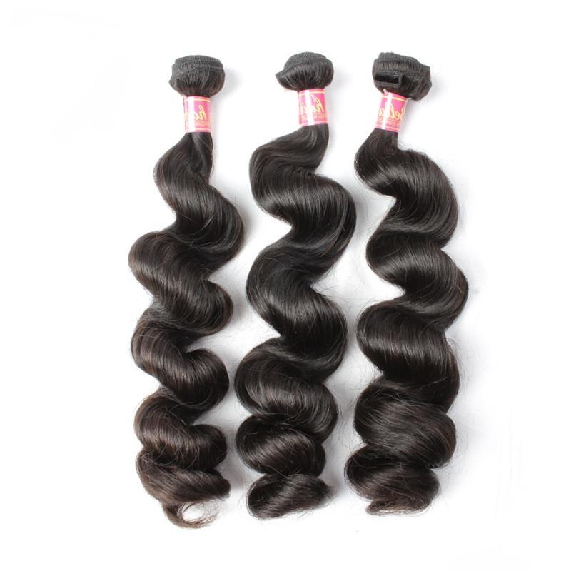Bella Saç 8-30 inç 100% Hint işlenmemiş bakire uzantıları doğal renk gevşek dalga demetleri