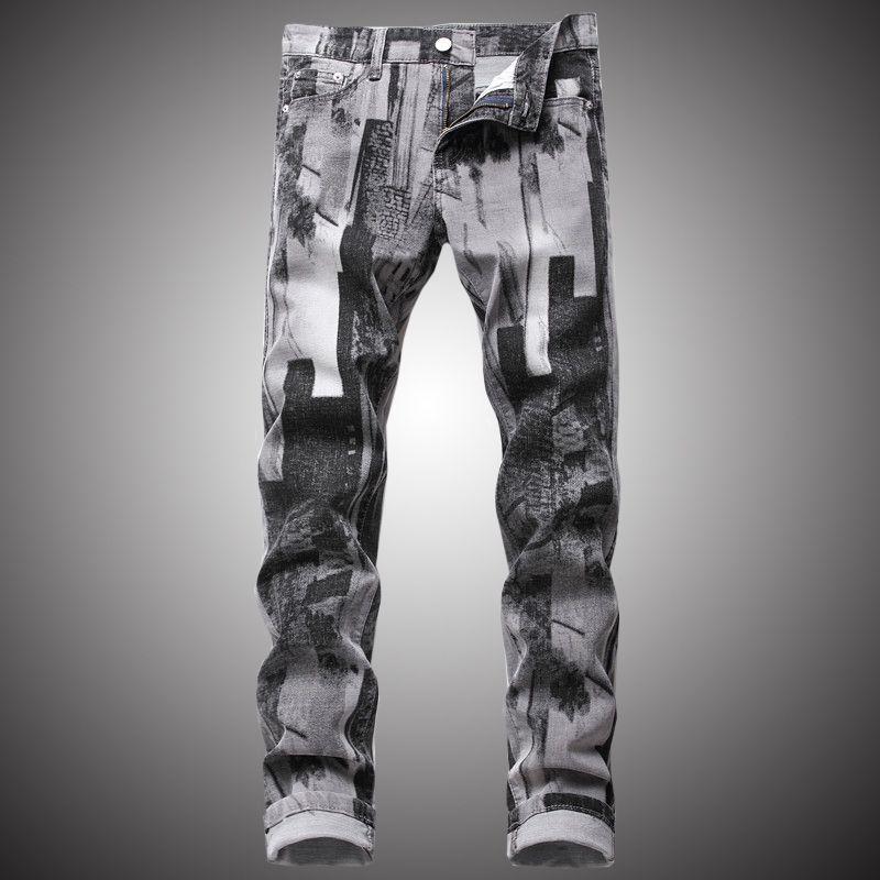 Erkek Skinny Jeans Moda Vintage Denim Pantolon Gündelik Kalem Pant Jeans Slim Fit Erkek Pantolonları BP061