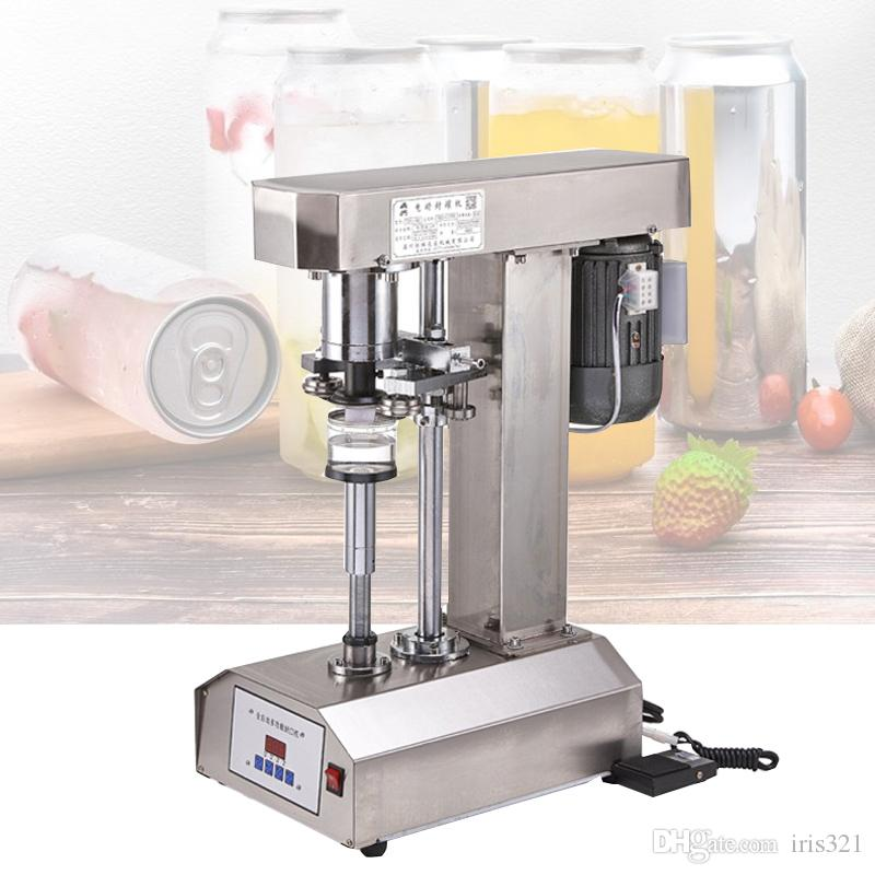 370W Multi-function electric can sealing machine PET bottles Sealer automatic canned food beer Plastic seamer tinplate can sealing machine