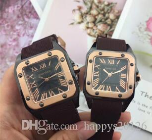 Relogio Masculino Couple Military Sport Square Wome Men Watches Fashion Designer Blue Brow Black Dial Unique Silicone Big Male Clock Watches
