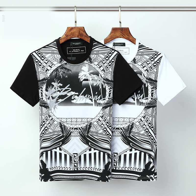 Летняя одежда мужская майка мультфильма футболку моды вокруг шеи короткий рукав классический камуфляж печать случайный короткий рукав мужской