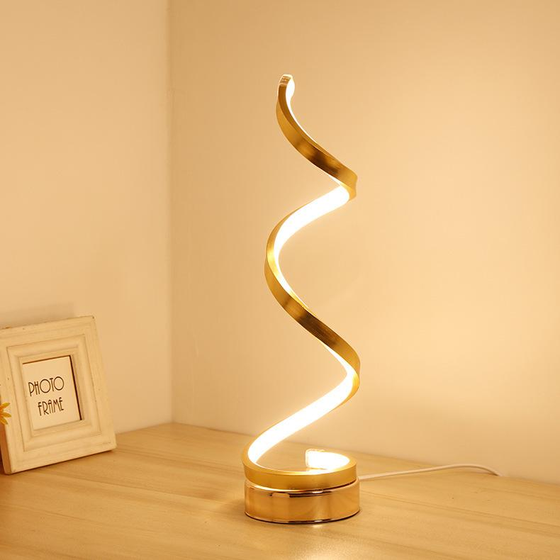 Modern Simple LED Table Lamp Bedroom Reading Desk Light Bedside Lamp Study Eye Protect US/EU Plug Dimming Remote Control