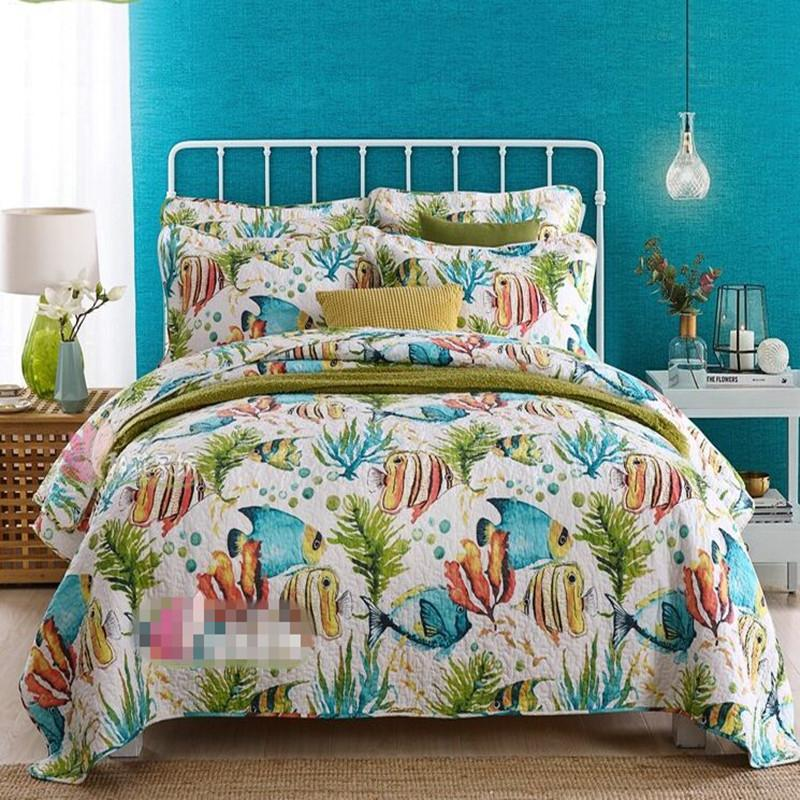 Coverlet set  Tropical style Queen//King 100/%cotton