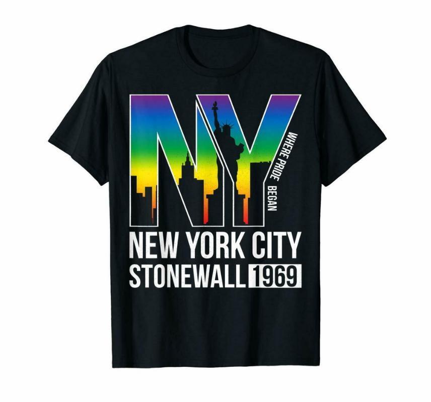 Vintage Stonewall Riots Nyc 50 ° anniversario LGBTQ Diritti T-shirt Taglia M-3XL all'ingrosso Tee Shirt