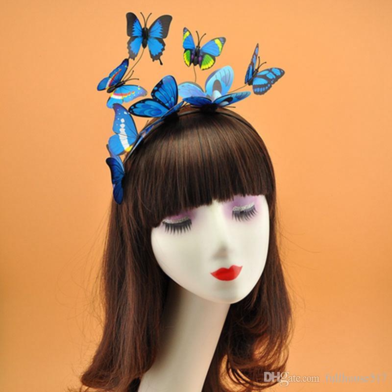 feriados borboleta Festival headband decoração Boho cabeça do partido do traje Headbands Cabelo Hoop Acessórios Cabelo tridimensional