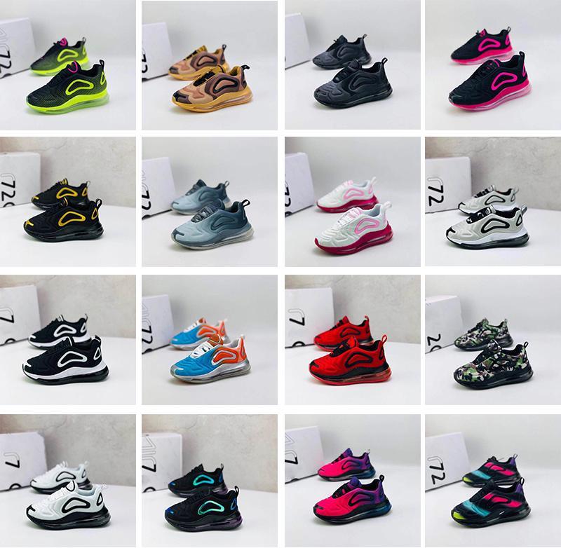 Ayakkabı 72c Yastık Casual Ayakkabı Koşu Çocuklar Erkekler Kızlar Serbest zaman etkinlikleri Sneakers Gençlik Çocuk bebek Koşu nefes Running