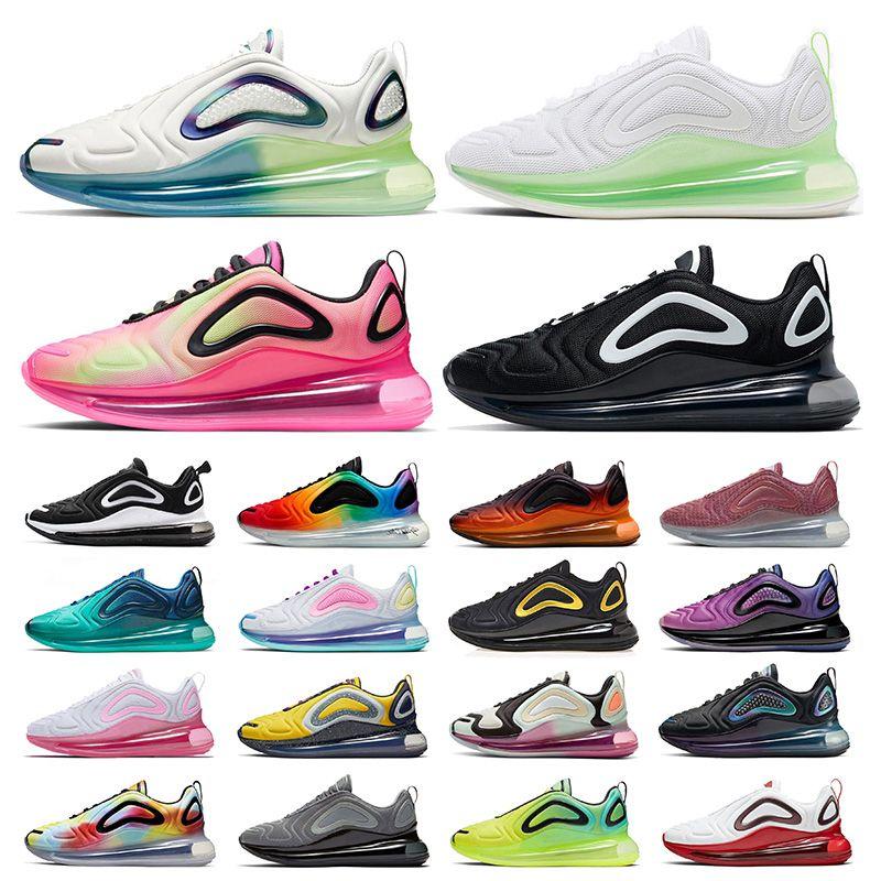 max 720 airmax Bubble Pack STOCK X 새로운 도착 720 스포츠 신발 남성 여성 핫 라바 와플 황금 볼트 BETRUE 트리플 화이트 레이저 핑크 남성 운동화 실행 신발 36-45