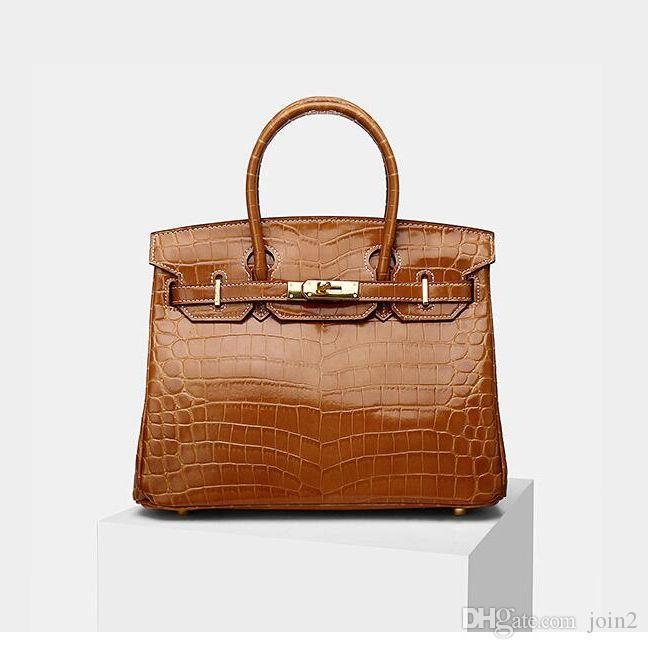 Модная реальные кожаная сумка загар