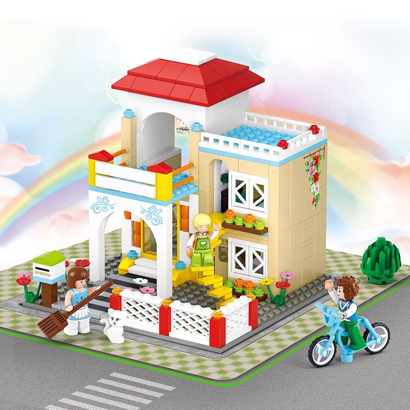 Diy Doll House Miniature Mini Dollhouse Small Room Box Home Villa