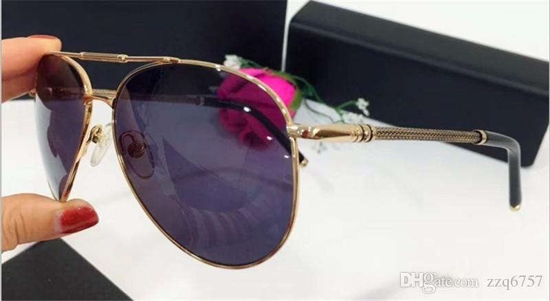 Nuevo diseñador de moda gafas de sol 425 metal piloto marco clásico simple venta caliente estilo uv 400 lente polarizada gafas de conducción para hombres