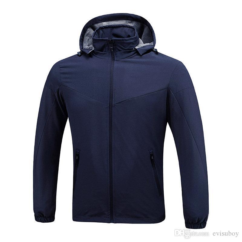 남성 스타일리스트 자켓 윈드 브레이커 블랙 블루 남성 여성 스타일리스트 겨울 재킷 남성 의류 코트 크기 L-XXXL