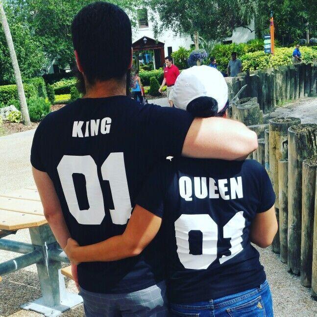 Diseñador de la camiseta Hombres Mujeres Parejas letra del verano Imprimir rey reina de la moda Camiseta casual transpirable de manga corta Negro Camiseta blanca