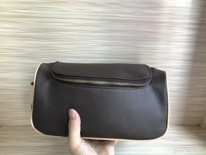 Gitter Reise WC-Tasche Kosmetik Designer Herren Schwarze Taschen Toilettenkunde Frauen Brieftaschen Brief Zipper Kaffee Makeup FLO QFTDH