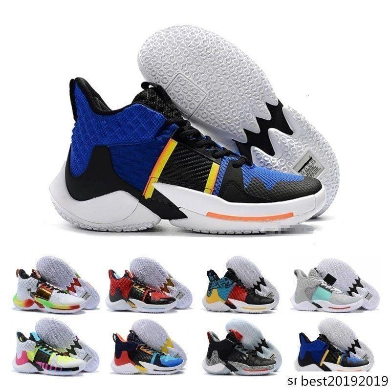 ¿Por qué no cheaps Cero 2.0 zapatos de baloncesto de PE para hombre zapatillas de deporte de Jumpman Russell Westbrook II zapatillas de deporte Zer0.2 Diseñador Formadores Zapatos Zapatos