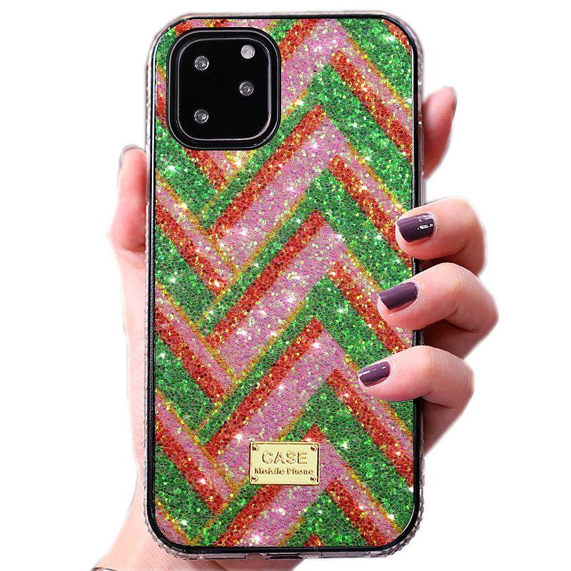 Neuer Bling Diamantrhinestone-Glitter-Telefon-Kasten für iPhone bling 12 mini 11 pro x xr xs max 8 7 6 Plus se 2020 hart Rahmengehäuseabdeckung Luxus